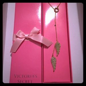 Victoria's Secret Angel Wings Lariat Necklace